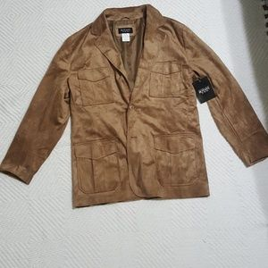 Other - Faux Tan Suede Mens Blazer